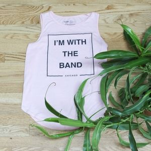I'm With The Band Hard Rock Pink Tank Top
